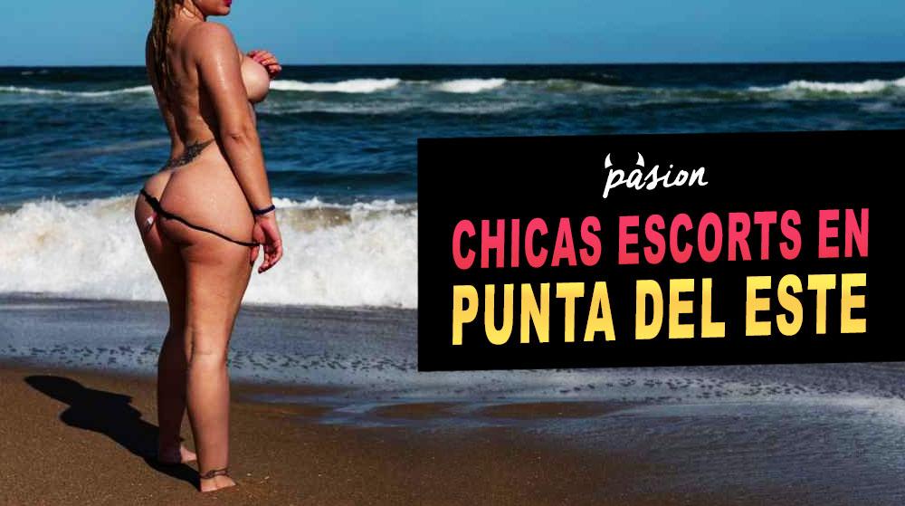 Una chica escorts en playa de Punta del Este, Uruguay